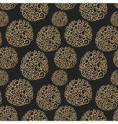 Seamless pattern with decorative curls Doodle vector image vector image