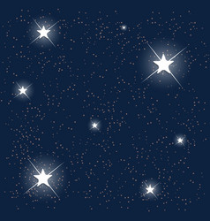 Space blue starry sky vector