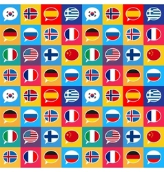 Speech bubbles with different countries flags in vector image vector image