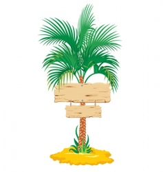 tropical palm tree vector image vector image