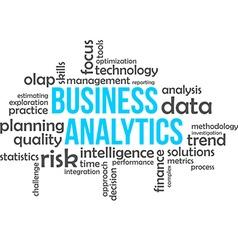 word cloud business analytics vector image vector image