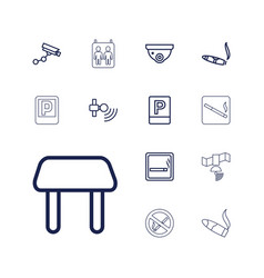 13 area icons vector image