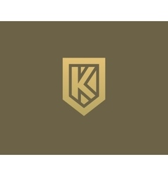 Abstract letter K shield logo design template vector