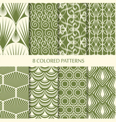 abstract vintage seamless patterns set vector image