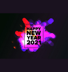 amazing fireworks new year 2021 vector image