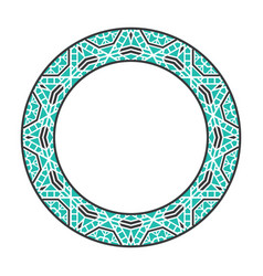 Asian tribal circular frame vector