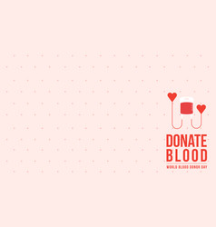 background blood donor day style collection vector image