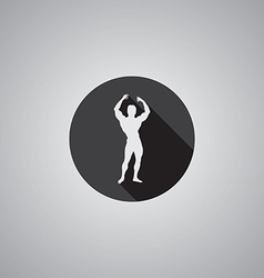 bodybuilder symbol flat vector image