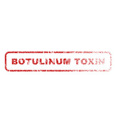 Botulinum toxin rubber stamp vector