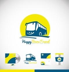 Bus logo icon design vector