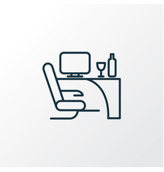 business class icon line symbol premium quality vector image