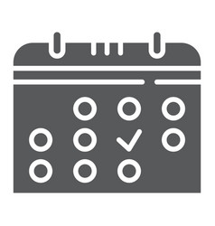 calendar glyph icon month and date reminder sign vector image