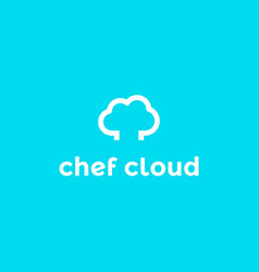 Chef hat and cloud monoline style logos i vector