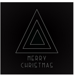 christmas futuristic greeting card - minimalistic vector image