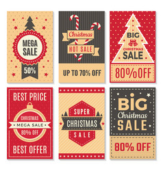 christmas sale banners new year special offers vector image