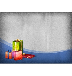 christmas template blue vector image