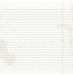 Clean sheet of exercise book striped vector