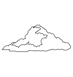 Cloud climate weather cold outline vector