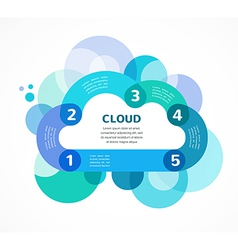 Cloud computing infographic with icons vector