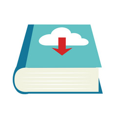 Color book with cloud download service vector