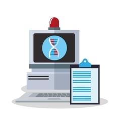 Colorful computer and laboratory design vector image