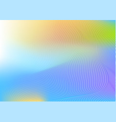colourful curved wavy lines abstract background vector image