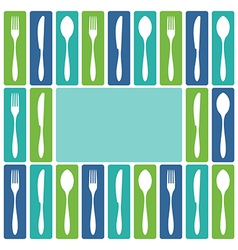 Cutlery frame vector