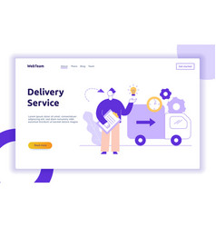 Delivery service design concept web banner vector