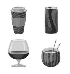 design of drink and bar symbol set of vector image