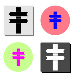 direction column flat icon vector image