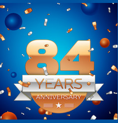 Eighty four years anniversary celebration design vector