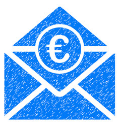 Euro mail icon grunge watermark vector
