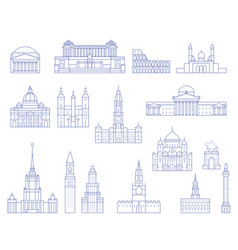 European architecture - buildings cathedrals vector