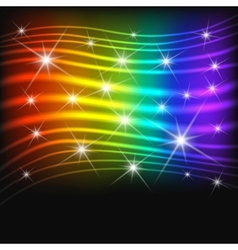 Fantasy abstract rainbow background vector