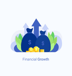 financial investments concept vector image