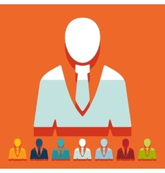 Flat design office people vector image
