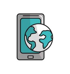 Global smartphone digital connect service vector