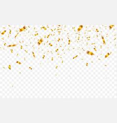 Gold confetti celebration carnival falling shiny vector