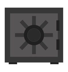 Grey safety vault vector