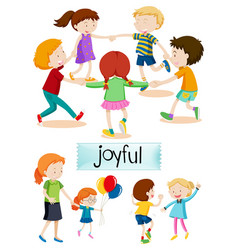 group of joyful people vector image