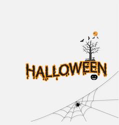 halloween calligraphy abstract iconhalloween vector image