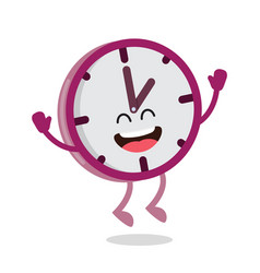 Happy cartoon wall clock vector