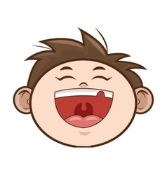happy kid boy smiling vector image