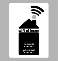 Home wifi wifi password sign house with wifi vector