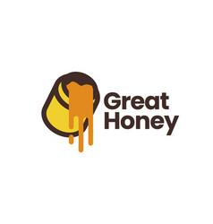 honey logo icon vector image