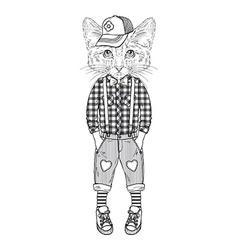 humanimal kitty boy vector image