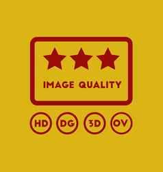 Image quality with stars in vector