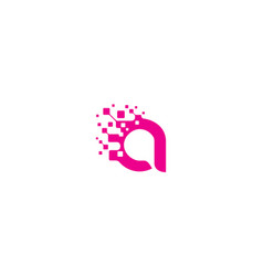 initial a digital logo icon technology vector image