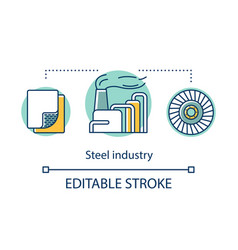 iron and steel industry concept icon steelmaking vector image