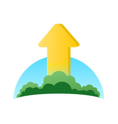 Logo of ecology growth vector